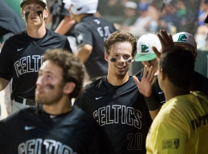 June 12, 2016: Providence's Jackson Stulas (20) celebrates a run during the IHSA 4A State Championship Game against Mundelein hosted at Silver Cross Field in Joliet.