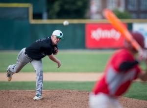 June 12, 2016: Providence's Connor Hilty (38) pitches during the IHSA 4A State Championship Game against Mundelein hosted at Silver Cross Field in Joliet.