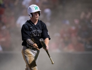 June 12, 2016: Providence's Kevin Fitzgerald (23) celebrates a run during the IHSA 4A State Championship Game against Mundelein hosted at Silver Cross Field in Joliet.