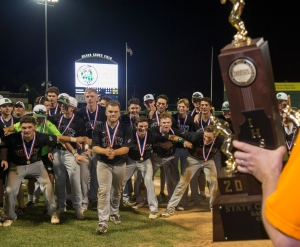 June 12, 2016: Providence celebrates a 10-3 win over Mundelein during the IHSA 4A State Championship Game hosted at Silver Cross Field in Joliet.